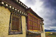 Tibetan temple. This is a very Grand and spectacular tibetan temple Royalty Free Stock Images