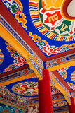 Tibetan temple ceiling Stock Photo