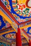 Tibetan temple ceiling Stock Photo