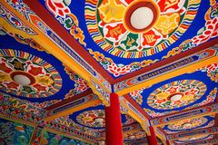Tibetan temple ceiling Stock Photos