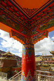 Tibetan temple ceiling Royalty Free Stock Photography