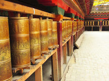Tibetan Temple, Shangri-La. Shangri-La is a fictional place described in the 1933 novel Lost Horizon by British author James Hilton. In the book, Shangri-La is a Royalty Free Stock Photos