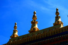 Tibetan temple top Stock Photography