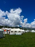 Tibetan tents Royalty Free Stock Image