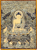 Tibetan thangkas Buddha picture Royalty Free Stock Image