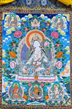 Tibetan thangkas Buddha picture Royalty Free Stock Images
