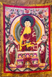 Tibetan thangkas Buddha wall charts Stock Photo