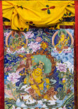 Tibetan thangkas Buddha wall charts Stock Photos