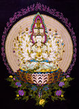 Tibetan thangkas Buddha wall charts Royalty Free Stock Photo