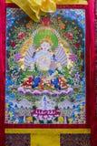 Tibetan thangkasBuddhabild Royaltyfri Bild