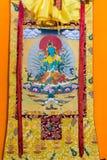 Tibetan thangkasBuddhabild Arkivfoton
