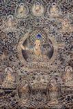 Tibetan thangkasBuddhabild Arkivbilder