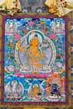 Tibetan thangkasBuddhabild Royaltyfri Fotografi