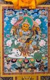Tibetan thangkasBuddhabild Arkivbild