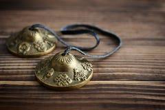 Tibetan Ting Sha Ceremonial Bells Royalty Free Stock Photo