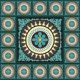 Tibetan traditionell mosaikhemdekor Arkivbilder