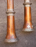 Tibetan trumpets Stock Images