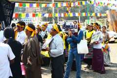 Tibetan Uprising Day Anniversary Celebration at Oo Royalty Free Stock Photos