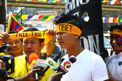 Tibetan Uprising Day Anniversary Celebration at Oo Royalty Free Stock Images