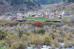 Tibetan village Stock Photography