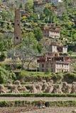 Tibetan village. The scene of a Tibetan village in the fall Stock Photos