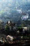Tibetan village in dawn light Stock Photos