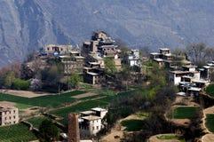 Tibetan village in early spring Stock Photos