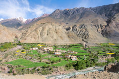 Tibetan village scenery Royalty Free Stock Image