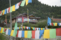 Tibetan village Stock Photos