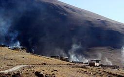 Tibetan village Stock Image