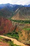 Tibetan villages, Oasis of Tibet royalty free stock image