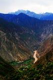 Tibetan villages, Oasis of Tibet stock photos