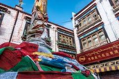 Tibetan vlaggen Stock Fotografie