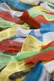 Tibetan Vlaggen van het Gebed in Lhasa Royalty-vrije Stock Foto's