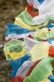 Tibetan Vlaggen van het Gebed in Lhasa Royalty-vrije Stock Fotografie
