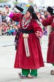 Tibetan volksdanser stock fotografie