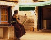 Tibetan Vrouw Royalty-vrije Stock Fotografie