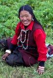 Tibetan vrouw in Hogere Dolpo, Nepal Royalty-vrije Stock Foto