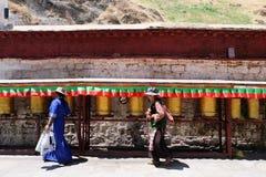 Tibetan vrouwen Stock Afbeelding