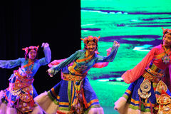 "Tibetan welcome dance-Large scale scenarios show"" The road legend"" Stock Image"