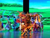 "Tibetan welcome dance-Large scale scenarios show"" The road legend"" Stock Photo"