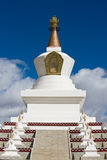 Tibetan white Pagoda with blue sky Royalty Free Stock Photography