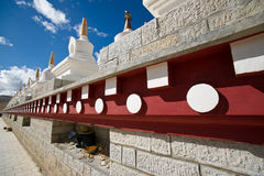 Tibetan white Pagodas Stock Images
