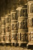 Tibetan Wiel van het Gebed Stock Fotografie
