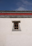 Tibetan window. A shot of a tibetan style window Royalty Free Stock Images