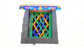 Tibetan window Stock Photos