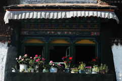 Tibetan window Royalty Free Stock Photography