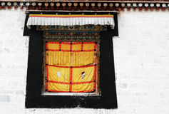 Tibetan window Royalty Free Stock Photos