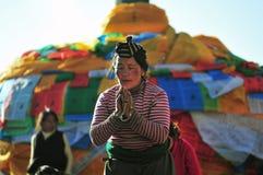 Tibetan woamn Stock Images