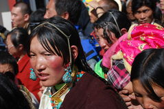 Tibetan woman Stock Photography